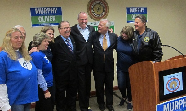 Weingarten with Phil Murphy and AFT members